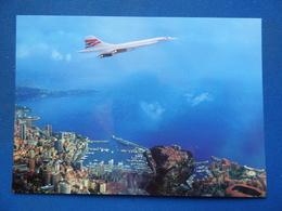 BRITISH AIRWAYS     CONCORDE  SURVOLANT MONACO - 1946-....: Era Moderna