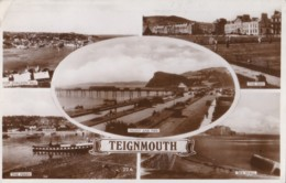 AR34 Teignmouth Multiview - RPPC - England