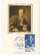 Carte Maximum 1984 - Journée Du Timbre De 1984 : Diderot  YT 2304 Paris - 1980-89