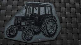 PLAQUE METALLIQUE TRACTEUR  MATERIEL AGRICOLE MATERIEL CHANTIER - Altre Collezioni