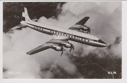 Vintage Rppc KLM K.L.M Royal Dutch Airlines Douglas Dc-7 Aircraft Inflight - 1919-1938: Fra Le Due Guerre