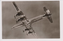 Vintage Rppc KLM K.L.M Royal Dutch Airlines Douglas Dc-7 Aircraft Inflight - 1919-1938: Entre Guerres
