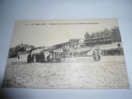 C.P.A.- Berck Plage (62) - Aéroplane Venant D'Atterrir Sur Plage Face à L'Hôpital Cazin Perrochaud - 1919 - SUP (BX 23) - Berck