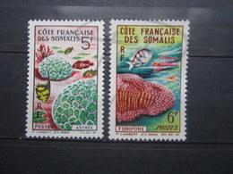 VEND BEAUX TIMBRES DE LA COTE FRANCAISE DES SOMALIS N° 316 + 317 , X !!! - Côte Française Des Somalis (1894-1967)
