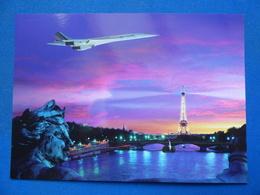 AIR FRANCE     CONCORDE     SURVOLANT PARIS - 1946-....: Era Moderna