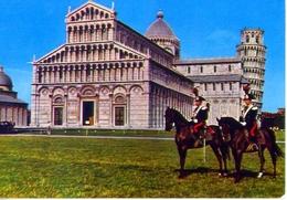 Pisa - Piazza Dei Miracoli - Carabinieri A Cavallo - Formato Grande Viaggiata Mancante Di Affrancatura – E 12 - Pisa