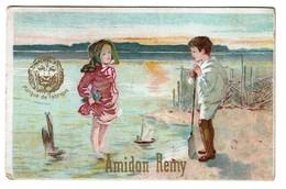 Chromo - Amidon Remy - Enfants à La Mer - 2 Scans - Other