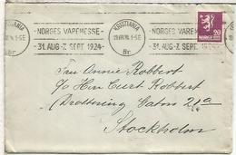NORUEGA 1924 KRISTIANIA NORGES VAREMESSE - Noruega
