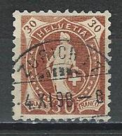 SBK 68D, Mi 60YC O Zürich 17 - 1882-1906 Wappen, Stehende Helvetia & UPU