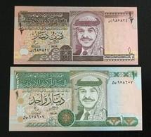 JORDAN SET 1/2, 1 DINAR BANKNOTES UNC - Jordan