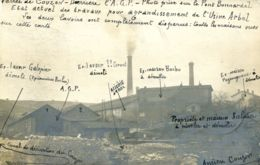 N°74119 -très Rare Carte Photo Vallée De Couzon -agrandissement De L'usine Arbel- - Francia