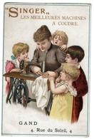Chromo - Singer - Les Meilleures Machines à Coudre / Sewing Machines - Gand Rue Du Soleil  -  2 Scans - Trade Cards