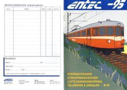 Catalogue ENTEC 1995 Strömavtagare Luftledningsmtrl Tillbehör HO 1/87 - En Suédois - Other