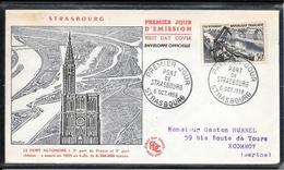 FDC 1956 1080 Le Port De Stasbourg - 1950-1959