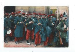 Guerre 14-18 - Groupe De Français En Uniforme - Circulé Vers Allemagne 1915 - Histoire