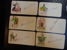Lot De Carte Miniatures  Bonne Annee-mode Retro Illustrateur A Determiner SIF Ou Molina ??? - Nieuwjaar