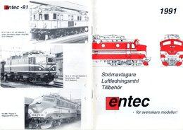 Catalogue ENTEC 1991 Strömavtagare Luftledningsmtrl Tillbehör HO 1/87 - En Suédois - Other