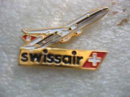 Pin's Avion De La Compagnie Aérienne SWISSAIR - Airplanes