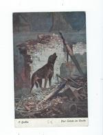 Guerre 14-18 - Un Chien Qui Hurle Dans Maison En Feu - Circulé Vers Allemagne - Wohlfahrtskarte - Histoire
