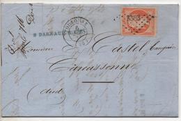 """TTB 40c N°16 Sur Lettre De """"DARNAUD"""" à TOULOUSE En Mars 1857 - 1849-1876: Période Classique"""