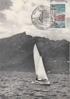 REUNION Carte Maximum Yvert 372 Aix Les Bains 29/1/1967 - Bateau Voilier - Storia Postale