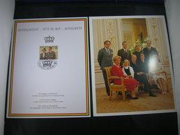 """BELG.1995 Militaire Herdenkingskaarten """" KONINGSFEEST / FETE DU ROI """" Cartes Commémorative Militaire - FDC"""