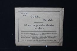 """AN - 215 Scoutisme - """" G.G.B Guide...Ta Loi """" Avec Enveloppe - Edit. Scouts Du Pontia - Huy ( 10 Cartes ) - Scoutisme"""