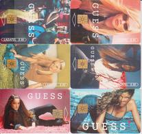#11 - MEXICO-02 - SET OF 6 CARDS - WOMAN - GUESS - Mexico