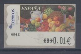 Spanien ATM Gemälde Früchte, Wert In € 6-stellig Schmal, Mi.-Nr. 135.6 - 1931-Heute: 2. Rep. - ... Juan Carlos I