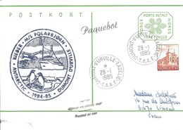 TAAF - Dumont D'Urville-T.Adélie : Entier Postal Norvège M/S Polarbjorn Avec Timbre N°787 Stavanger - 29/01/1985 - Terres Australes Et Antarctiques Françaises (TAAF)