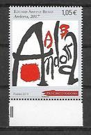 Andorre 2019 - Yv N° 832 ** - Eduard Arranz Bravo - Neufs