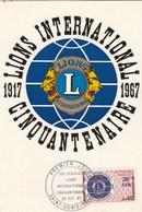 REUNION Carte Maximum Yvert 375 Lions International 29/10/1967 - Lettres & Documents
