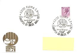ITALIA - 1971 PARMA Europei Di Baseball (Logo Con Guantone E Pallina) - Baseball