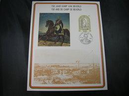 """BELG.1985 Militaire Herdenkingskaart """" BEVERLO CAMP """" Carte Commémorative Militaire - 1981-90"""
