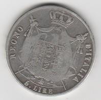 Pièce De 5 Lire 1812 M   - 011 - Temporary Coins
