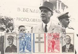 REUNION Carte Maximum Yvert Bande 403A Général De Gaulle 9/11/1971 - Covers & Documents