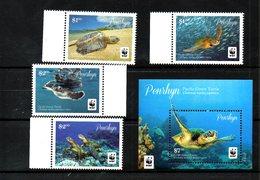 PENRHYN, 2014, MARINE TURTLE, 4v.+S/S, MNH** - Turtles