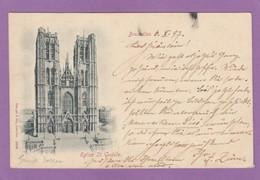 EGLISE ST. GUDULE VERS 1897. - Monumentos, Edificios