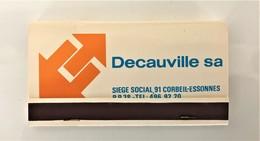 Boite- Pochette D'allumettes Pleine - DECAUVILLE - ANNEE 70. Parfait Etat . - Objets Publicitaires