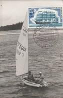 REUNION Carte Maximum Yvert 415 3 Mats France II 10/6/1973 - Bateau Voilier - Storia Postale