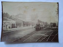 Algérie - BOUFARIK - La Gare à L'arrivée Du Train D Alger - Photo Ancienne Début XX ème - Lieux