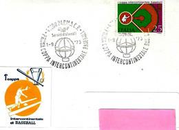 ITALIA - 1973 PARMA Prima Coppa Intercontinentale Di Baseball - Baseball