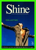 """AFFICHE DE CINÉMA - """" SHINE """" -  FILMKANYLEN, JYLLANDSPOSTEN, EKSTRA BLADET, POLITIKEN - GO-CARD 1997 No 2683 - Affiches Sur Carte"""