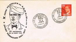 33361. Carta Exposicion BARCELONA 1977. Aniversario Muerte JACINT VERDAGUER - 1931-Hoy: 2ª República - ... Juan Carlos I