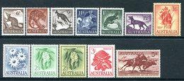 Australia 1959-64 Pictorial Definitives - Set HM (SG 316-327) - Mint Stamps