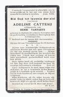 DOODSPRENTJE CATTEAU VANPARYS ° HALLUIN FR. 1855  + ZWEVEGEM 1922 - Imágenes Religiosas