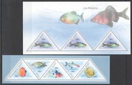 BC253 2011 GUINEA FAUNA FISH & MARINE LIFE LES POISSONS 2KB MNH - Cigognes & échassiers