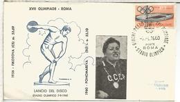 ITALIA 1960 MAT JUEGOS OLIMPICOS DE ROMA OLYMPIC GAMES MAT STADIO OLIMPICO - Verano 1960: Roma