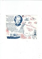 A FAGA  POSTCARD  PUBL IN THE 80S  MARGERET THATCHER  FALKLANDS   MAP RELATED - People