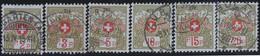 Schweiz  .  Yvert  .   Franchise  2A/7A     .    O     .   Gebraucht     .   /   .    Oblitéré - Postmarks